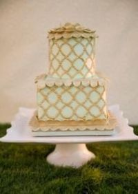 Gorgeous Mint Green And Gold Cake From Madison S On Main