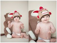 Traci Todd Photography. Little sock monkey baby!
