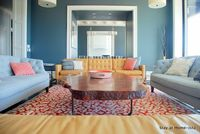 Immaculate living room #living room #coral