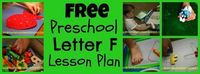 Free printable lesson plan and ideas for a preschool study of Letter F