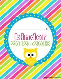 EDITABLE owl themed binder covers and forms!#repost By:Pinterest++ for iPad#