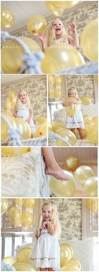 balloons and bed- love the composition and angles here!