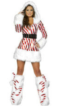 Sexy Candy Cane Dress will make you look delicious at your holiday party!