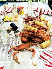 In Our South, some of the finest cuisine is served on... newspaper