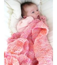I think this blanket is adorable! It looks so soft and girly. I would love to have had one of these for my daughter!
