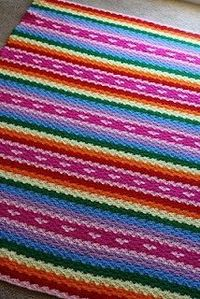 Bethany Scofield's Rainbows and Hearts Blanket