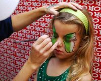 I love face painting at parties!