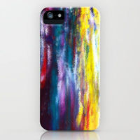 iphone case with abstract, colorful art