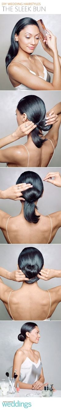 Follow these easy steps to create this sleek hairstyle yourself.