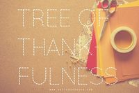 DIY Tree of Thankfulness (for next year) #thanksgiving