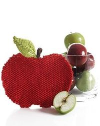 Lily Sugar n Cream - Apple Dishcloth (free knit pattern)