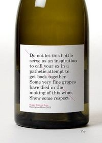 Good idea for wine packaging. At least it will catch you attention...