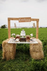 "Milk and Cookies wedding ""table"""
