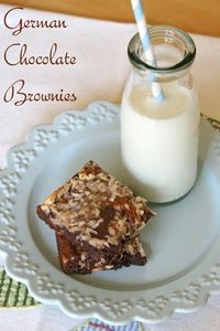 Glorious Treats » German Chocolate Brownies
