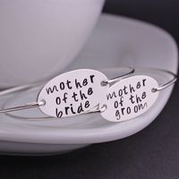 Mother of the Bride and Groom Jewelry Set, Sterling Silver Bangle Bracelet, Mother of the Groom Gift, Wedding Jewelry