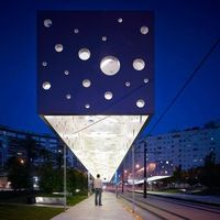 Floating lamp, Tram stop in Alicante, Spain by Subarquitectura