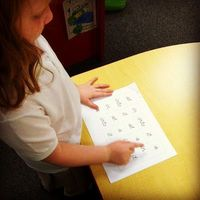 Fluency Idea for sight words or letters.