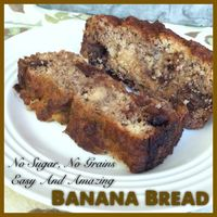 You will be pleasantly surprised when you find out this delicious banana bread has no added sugar or grains!