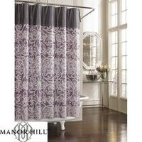 purple and Gray shower curtain! / bath ideas - Juxtapost