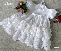 Adorable Christening Baby Dress free crochet pattern