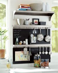 Stainless-Steel Utility Shelf with Hooks