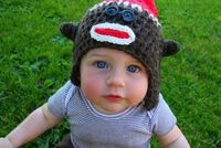 Sock Monkey Hat, click link for pattern*