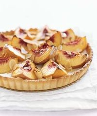 ++ peach & sour cream tart