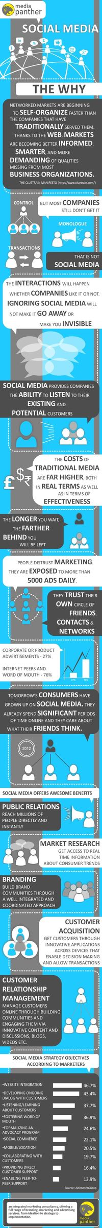 Social media - The why - Advertising, Branding, Marketing - Media Panther Blog #infographic (pinned by