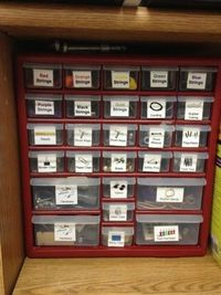 Music with Mrs. Dennis: Tour My Classroom Organize all those small items and office supplies so you don't have to search in deep drawer to find what you need.