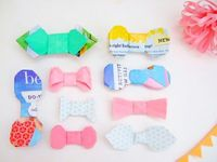paper bow tie / ribbon / tutorial / origami