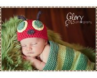 Hat & Cocoon Crochet Pattern SET - HUNGRY CATERPILLAR - 101, 701 --- Permission to Sell Finished Items. $9.99, via Etsy.