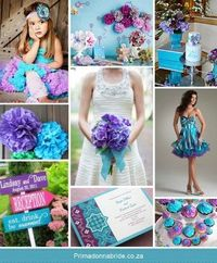 {Monday Moods at DIY Weddings} Aqua & Purple