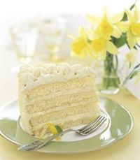 Lemon Layer Cake with Lemon Curd and Mascarpone Frosting