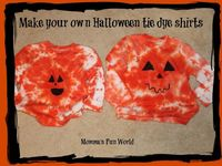 Momma's Fun World: Make your own Tie Dye Pumpkin shirt