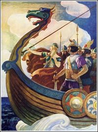 N. C. Wyeth ~ Queen Astrid ~ The World Of Music - Song Programs for Youth: Treasure ~ Ginn and Company, 1938