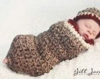 Sock Monkey Hat and Cocoon Crochet Patterns - Photography Prop (529)