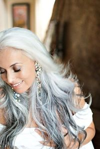 I now have something to look forward to when I go gray!!