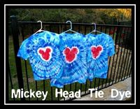 How To Make Mickey Head Tie Dye Shirts