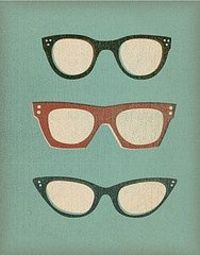 Beautiful illustration of vintage glasses