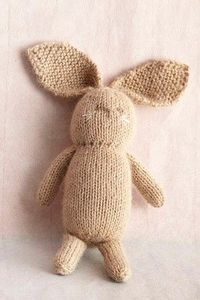 bunny ragdoll...knit flat and seam it up. free pattern