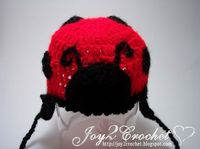 Joy 2 Crochet: Lady Bug Baby Hat Pattern