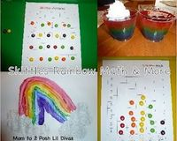 Skittles Rainbow Math & Food Fun - perfect for spring & St. Patrick's Day