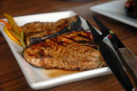 Blue Marlin: Grilled Blue Marlin Steaks at Gerry's Grill
