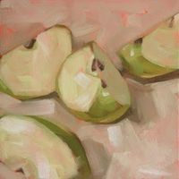 """Quartered"" 6x6 oil by Trevor Howard"