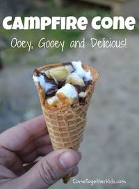Campfire Cones = Ooey Gooey Awesomeness!