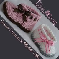 Baby Slippers Crochet Pattern for MY ANGEL BABY by TheLovelyCrow, $5.95