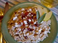 Savory Apple Risotto With Bacon & Goat Cheese | Better Recipes.