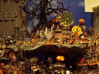Department 56 halloween display