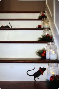 cute idea if you have stairs you decorate for the holidays