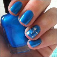 Electric neon blue nail polish Blue eyed freak by EmilydeMolly, $7.00